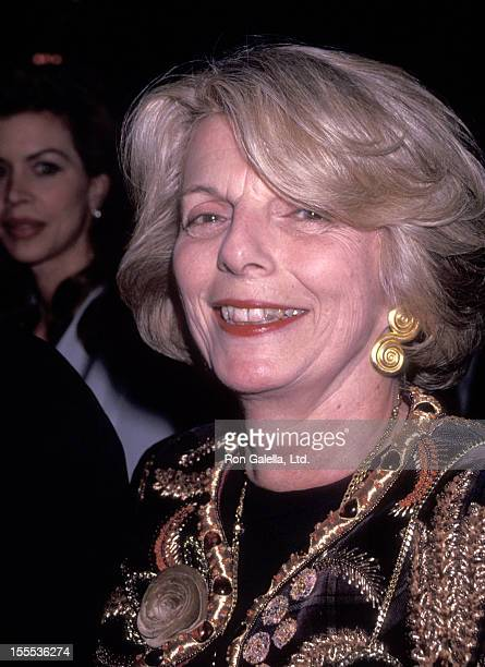 Fashion editor Grace Mirabella attends Brooke Astor's 90th Birthday Party on March 5 1992 at Seventh Regiment Armory in New York City