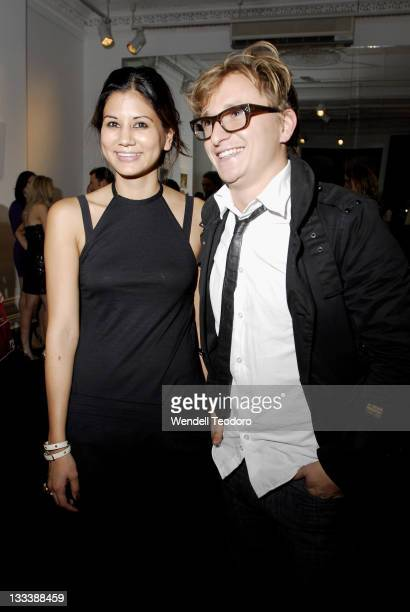 Fashion Editor Harpers Bazaar Christine Centenera and winner Simon Eeles attends Harper's Bazaar Canon Fashion Photography Awards at the Challis...