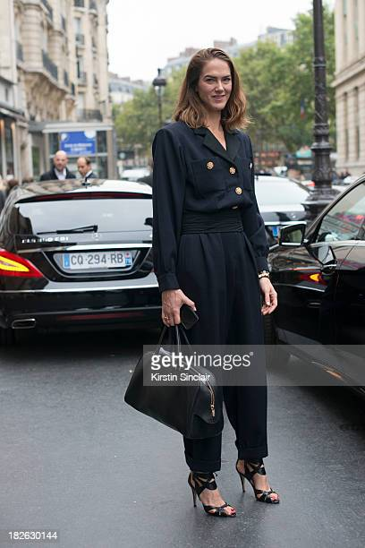 Fashion editor JJ Martin on day 7 of Paris Fashion Week Spring/Summer 2014 Paris September 30 2013 in Paris France