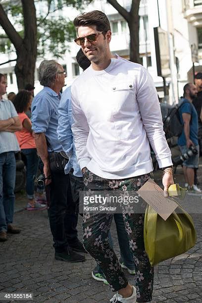 Fashion Editor Kadu Dantas on day 1 of Paris Collections Men on June 25  2014 in bb964ee6031