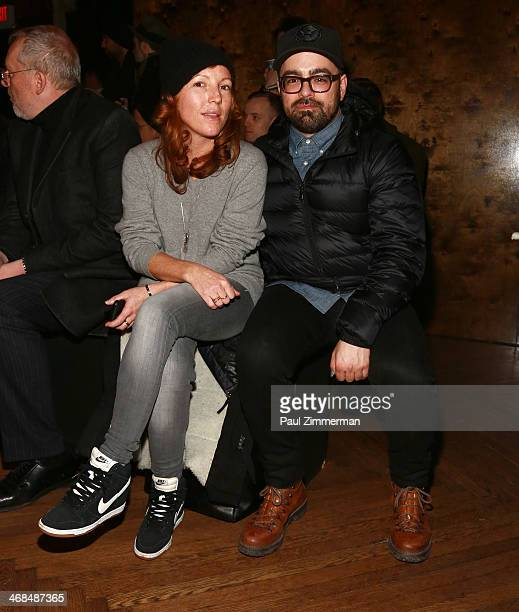 Fashion Editor of GQ Kelly McCabe and Jeff Carvalho Editor at Highsnobiety attend the Billy Reid Men's show during MercedesBenz Fashion Week Fall...