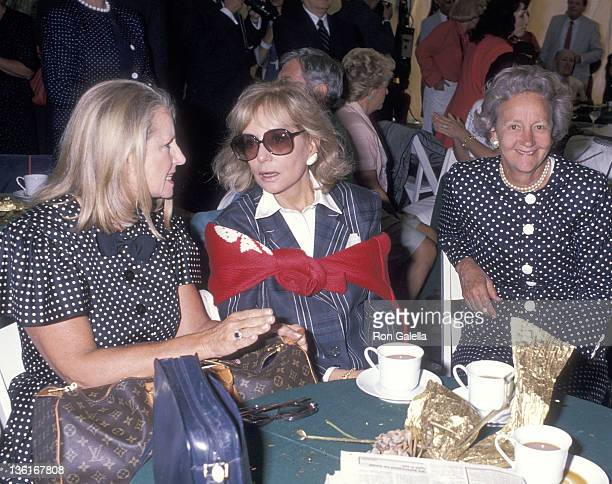 Fashion editor Shirley Lord TV journalst Barbara Walters and publisher Katharine Graham attend Malcolm Forbes' 70th Birthday Weekend Celebration...