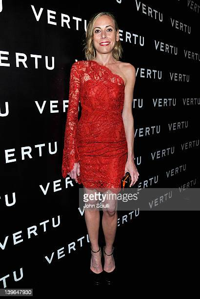 Fashion entrepreneur Angelique Soave arrives at Vertu and Gelila and Wolfgang Puck Celebrate the Oscars and Dream for Africa Foundation at CUT on...