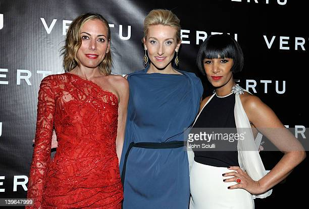 Fashion entrepreneur Angelique Soave, Vertu's Casey Gorman and Founder of Dream for Africa Foundation Gelila Puck arrive at Vertu and Gelila and...