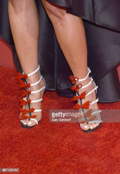 Fashion expert Jill Martin shoe detail attends the 2017 FGI Night Of Stars Modern Voices gala at Cipriani Wall Street on October 26 2017 in New York...