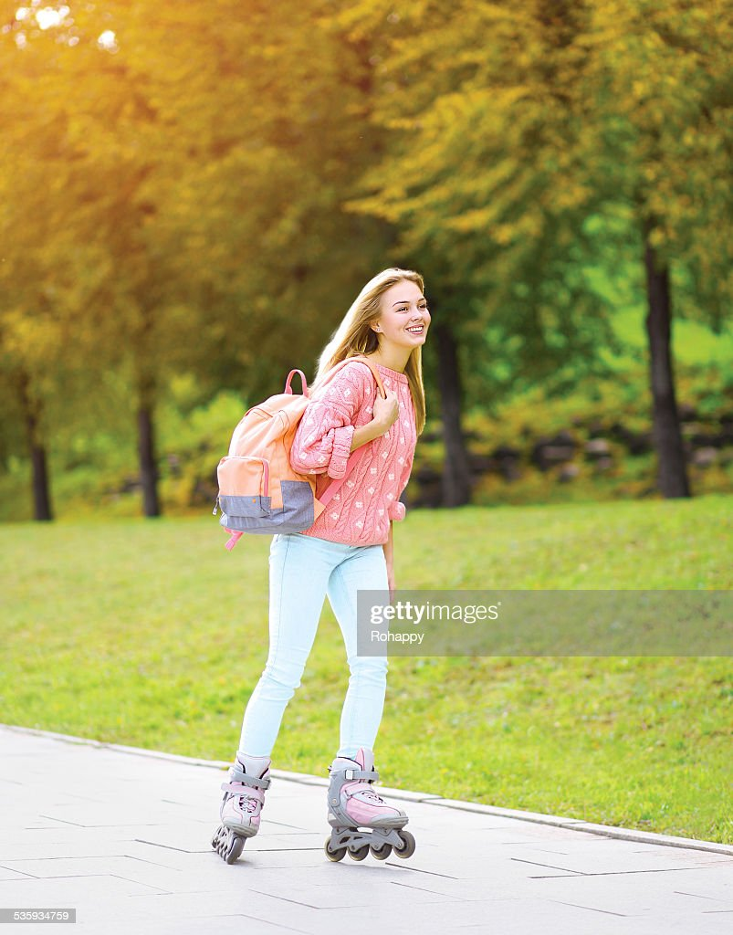 Fashion, extreme, vacation and people concept - pretty stylish s : Stock Photo