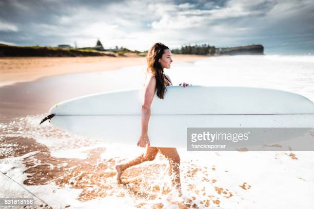fashion fit woman on the beach in australia