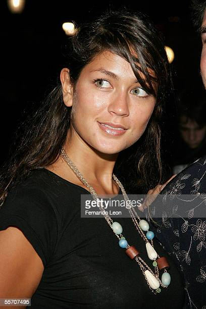A fashion goer attends day 8 of Olympus Fashion Week Spring 2006 at Bryant Park September 16 2005 in New York City