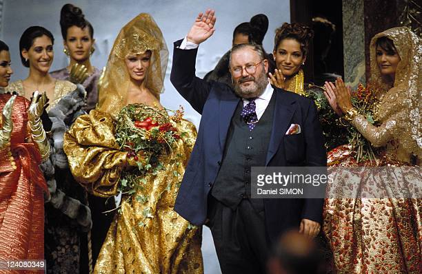 Fashion haute couture automn winter 92/93 in Paris France in July 1992 Christian Dior Gianfranco Ferre and Helena Christensen