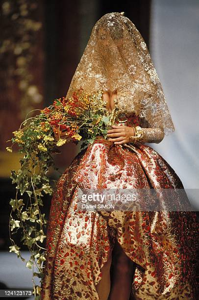 Fashion haute couture automn winter 92/93 in Paris France in July 1992 Christian Dior
