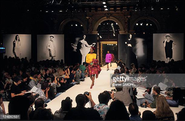Fashion Haute Couture Fall winter 1992 in Paris France in July 1991 Givenchy