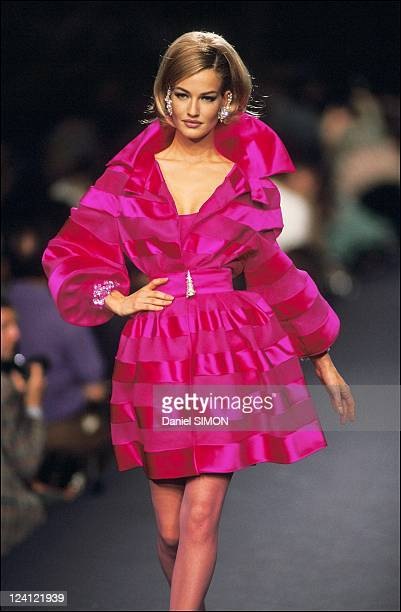 Fashion Haute Couture Fall winter 1992 in Paris France in July 1991 Lanvin