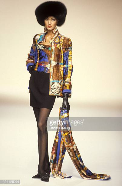 Fashion Haute Couture Fall/Winter 1994 1995 in Paris France in July 1994 Louis Feraud