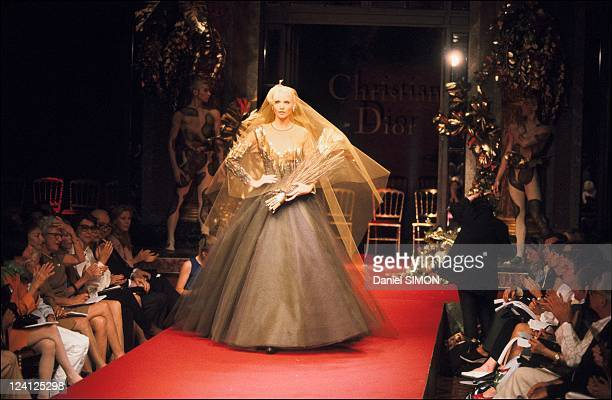 Fashion Haute Couture Fall/Winter 1994 1995 in Paris France in July 1994 Dior collection