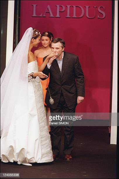 Fashion 'Haute couture' springsummer 2000 in Paris France On January 17 2000 Lapidus fashion show Olivier Lapidus