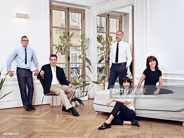 Fashion historian Olivier Saillard fashion show music producer Frédéric Sanchez gallery owner Kamel Mennour fashion designer Bouchra Jarrar and...
