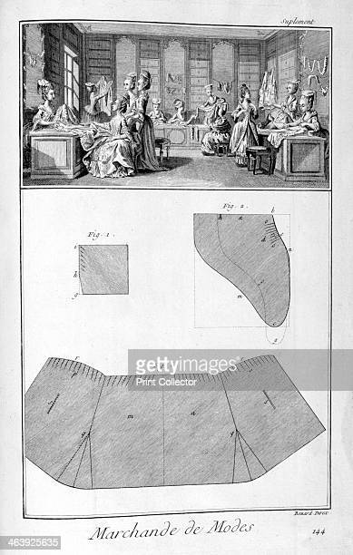 Fashion house 17511777 A print from a supplement of the Encyclopédie ou Dictionnaire Raisonné des Sciences des Arts et des Métiers by Diderot...