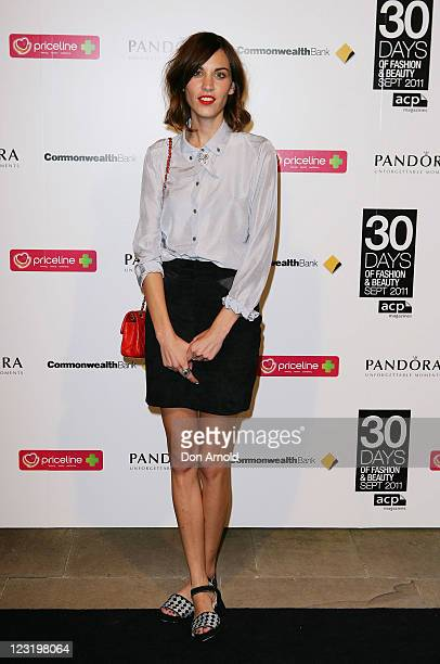 Fashion icon Alexa Chung poses during the launch of ACP's 30 Days Of Fashion And Beauty at 'Swifts' Darling Point on September 1 2011 in Sydney...