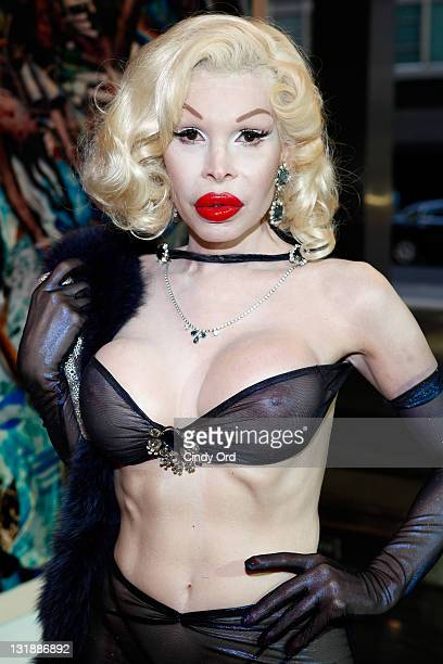 Fashion icon Amanda Lepore attends David LaChapelle's From Darkness To Light exhibition opening at Lever House on June 2 2011 in New York City