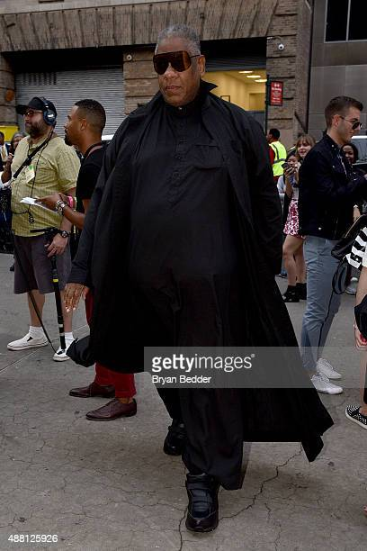 Fashion icon and author André Leon Talley seen at Skylight at Moynihan Station for Spring 2016 New York Fashion Week The Shows Day 4 on September 13...