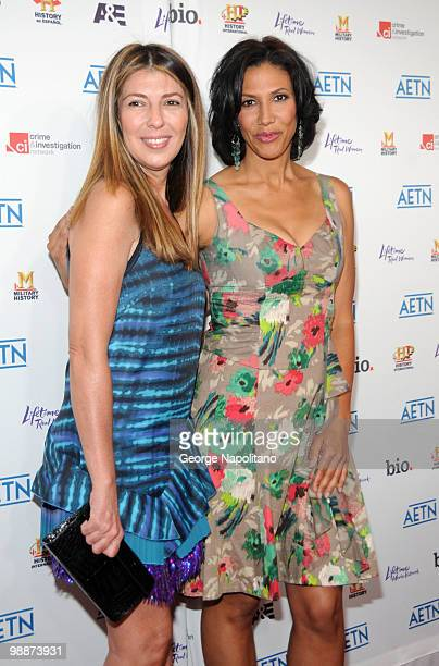 Fashion Icon and TV personality Nina Garcia and Wendy Davis attend the 2010 A&E Upfront at the IAC Building on May 5, 2010 in New York City.