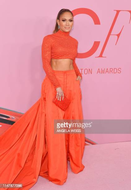 Fashion Icon Award recipient US singer Jennifer Lopez arrives for the 2019 CFDA fashion awards at the Brooklyn Museum in New York City on June 3 2019