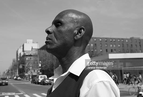Fashion icon Dapper Dan in Harlem, New York City, 2014.