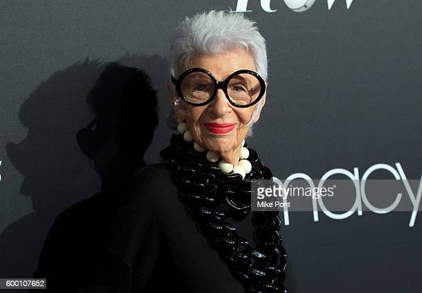 Fashion icon Iris Apfel attends Macy's Fashion's Front Row during September 2016 New York Fashion Week at The Theater at Madison Square Garden on...