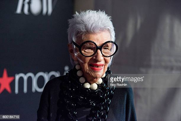 Fashion icon Iris Apfel attends Macy's Presents Fashion's front row during 2016 New York Fashion Week at The Theater at Madison Square Garden on...
