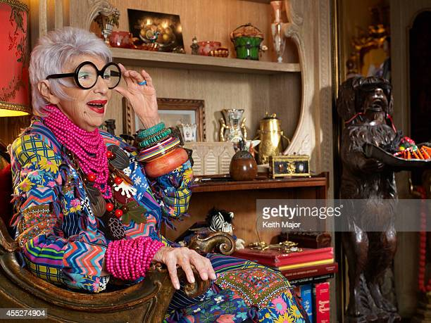 Fashion icon Iris Apfel is photographeed for Avenue Magazine on February 13 2014 in New York City PUBLISHED IMAGE