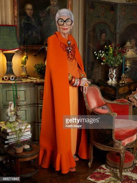 Fashion icon Iris Apfel is photographeed for Avenue Magazine on February 13 2014 in New York City PUBLISHED IMAGE