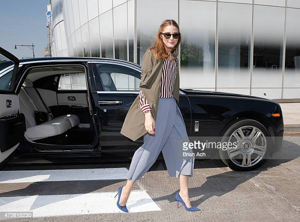 Fashion Icon Olivia Palermo receives a first look at RollsRoyce Motor Cars' latest design creation Wraith 'Inspired by Fashion' during the global...