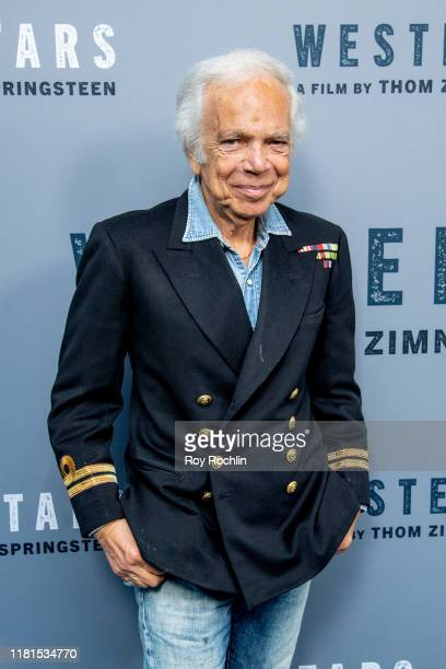 "Fashion icon Ralph Lauren attends ""Western Stars"" New York Screening at Metrograph on October 16, 2019 in New York City."