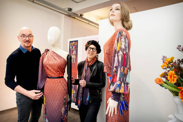 NLD: Designers Present Their Dress For Queen Maxima's 5Oth Anniversary