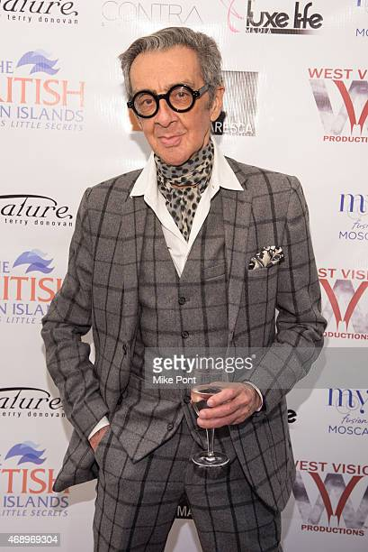 Fashion illustrator Robert Richards attends the Summer Sizzle BVI 2015 Launch Party at Ricco Maresca Gallery on April 8 2015 in New York City