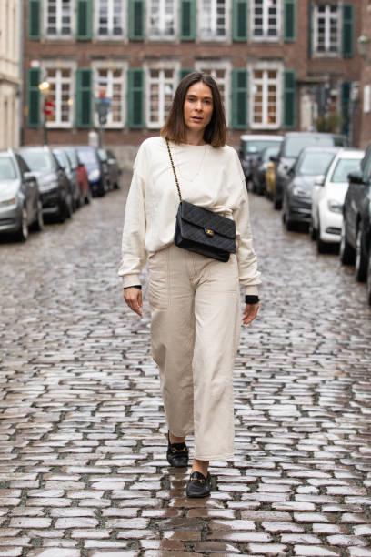 DEU: Patricia Wirschke Street Style Shooting In Dusseldorf