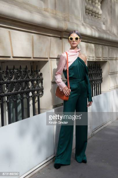 Fashion influencer Samantha Angelo of The Eye Travels wears a Mouse top and trousers Malone shoes Nico Giani bag Sunbuddies sunglasses and Maria...