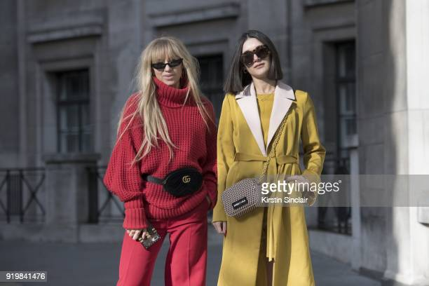 Fashion influencer Sandra Hagelstam wears Poppy Lissiman sunglasses And Other Stories jumper Joseph trousers Sandra Hagelstam shoes Gucci bag with...