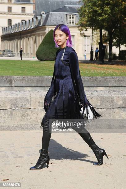 Fashion influencer/model Irene Kim attends the Nina Ricci show as part of the Paris Fashion Week Womenswear Spring/Summer 2018 on September 29 2017...