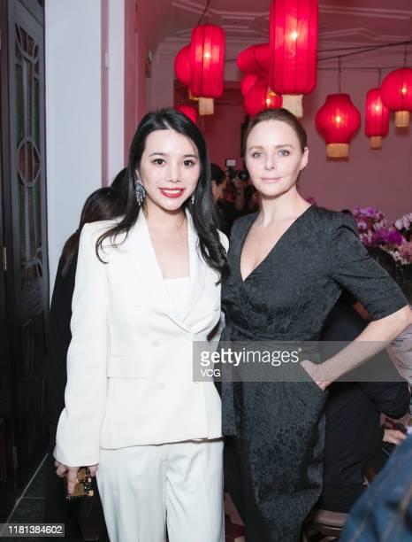 Fashion investor/Yu Holdings CEO Wendy Yu and designer Stella McCartney attend Mytheresa x Stella McCartney launch event on October 14, 2019 in...