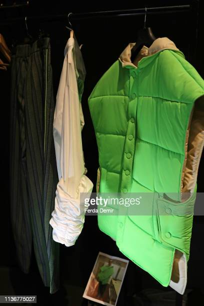 Fashion is on display backstage at the Emre Pakel show during MercedesBenz Istanbul Fashion Week at the Zorlu Performance Hall on March 19 2019 in...