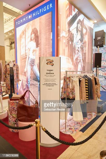 Fashion is presented during the 'TommyxZendaya' meet greet event at KaDeWe on March 15 2019 in Berlin Germany