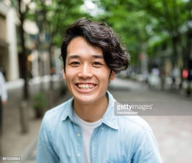 ファッション日本成人男性の肖像画