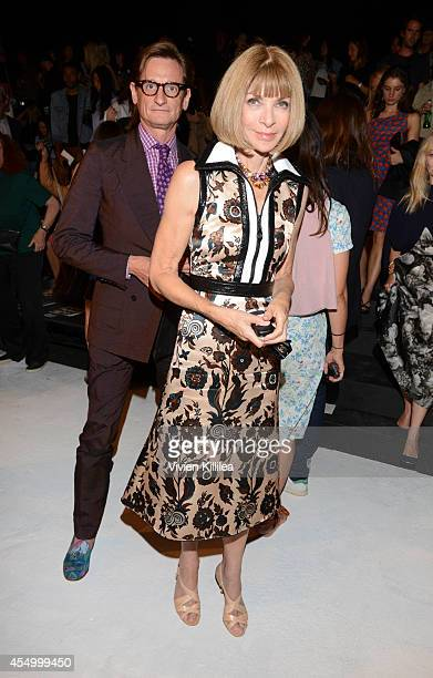 Fashion journalist Hamish Bowles and Editor in chief of American Vogue Anna Wintour attend the rag bone fashion show during MercedesBenz Fashion Week...
