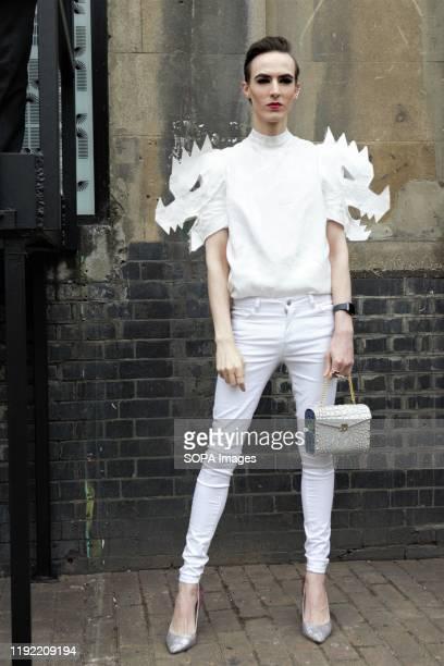 Fashion Journalist Stefan Howart attends the London Fashion Week Men's Day two Street Style.