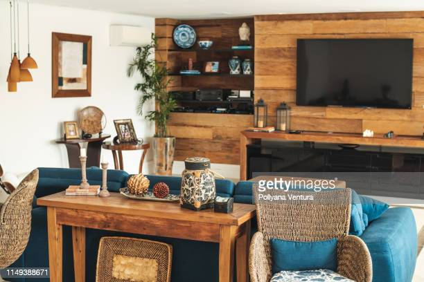fashion living room - rustic stock pictures, royalty-free photos & images