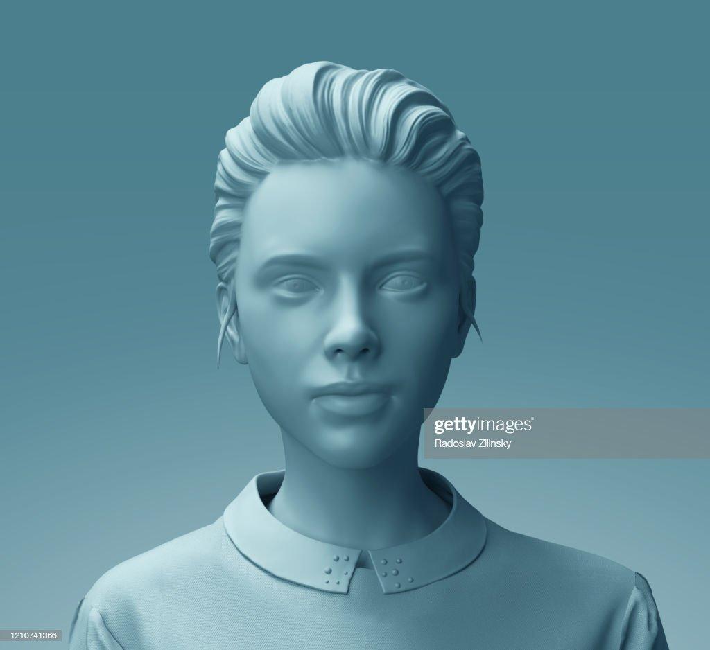 Fashion mannequin woman sculpture close up : Stock Photo