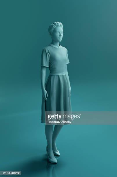 fashion mannequin woman sculpture - mannequin stock pictures, royalty-free photos & images