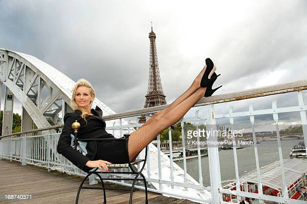 Fashion model Adriana Karembeu is photographed for Paris Match on September 4 2011 in Paris France