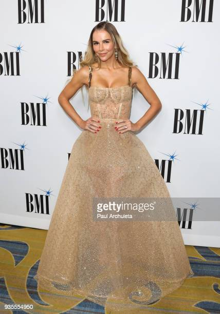 Fashion Model Agueda Lopez attends the 25th annual BMI Latin Awards at the Beverly Wilshire Four Seasons Hotel on March 20 2018 in Beverly Hills...